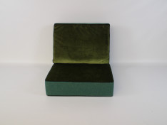 Zit/Rug combinatie, ritszijde: 72 cm, Copacobana Bluegrass, Velours Dark Green/Fles Groen