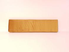 Rugkussen schuin 150x37x5/8 Nofruit Velours Soft Gold