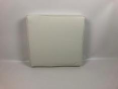 zitkussen lekker zacht 51 x 56 x 10 cm flame kunstleer wit met koord