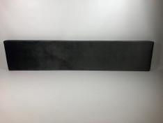 zitkussen 240 x 50 x 10 cm velours dark grey