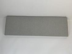 Zitkussen strak, southend light grey 185x59x9 G2006