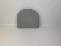Half rond zitkussen strak, copacobana white taupe 76x65,5 D2007a