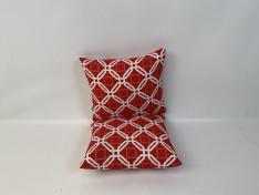 Plofkussen combi, 55x50 (x2) Natadola red, white A2-2001aa