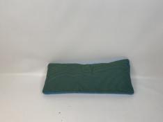 Sunbrella kussen, Blauw/groen, stof uit collectie, Rugkussen plof 95x38 A2-2010