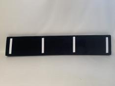 Zitkussen strak, velours black 264x49x10 klittenband G2051