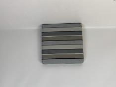 Zitkussen strak, sunbrella stripe quadri grey 51,51,6 G3068 (onderkant voorzien van gaas)