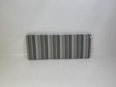 Zitkussen strak, sunbrella stripe quadri grey 124 x 47,5 x 6 G3070